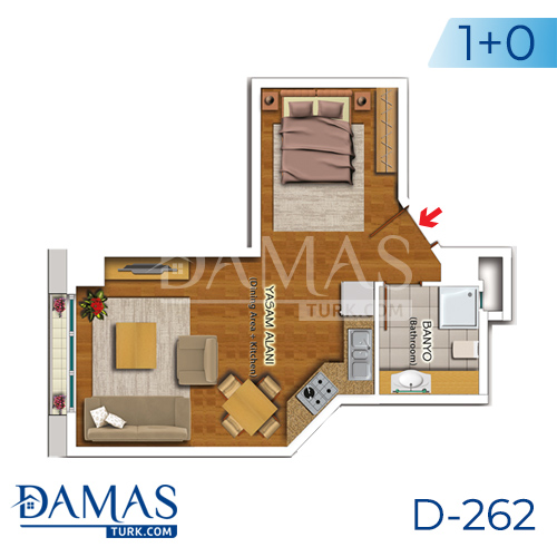 Damas Project D-262 in Istanbul - Floor plan picture 01