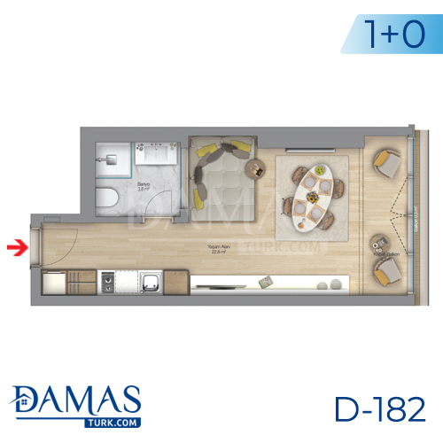 Damas Project D-182 in Istanbul - Floor plan picture  01