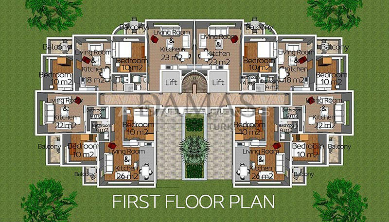 Damas 605 Project in Antalya - Floor Plan 01