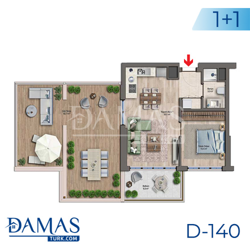 Damas Project D-140 in Istanbul - Floor plan picture 01