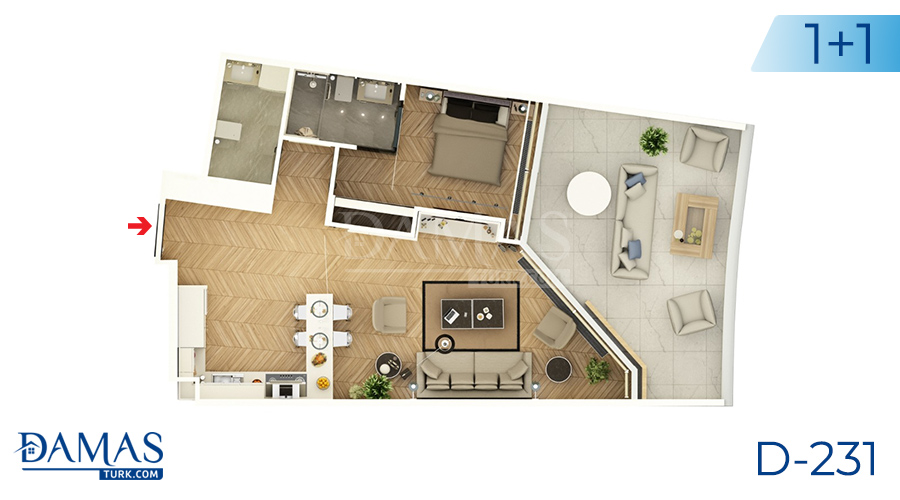 Damas Project D-231 in Istanbul - Floor plan picture  01