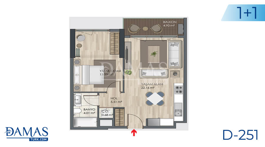 Damas Project D-251 in Istanbul - Floor plan picture 01