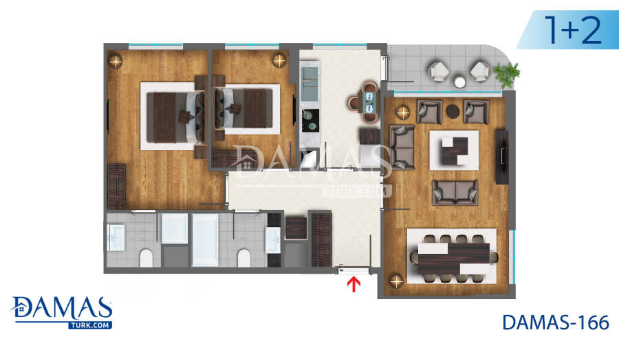 Damas Project D-166 in Istanbul - Floor plan picture  02