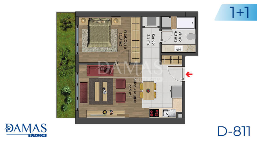 Damas Project D-811 in Istanbul - Floor plan picture 02