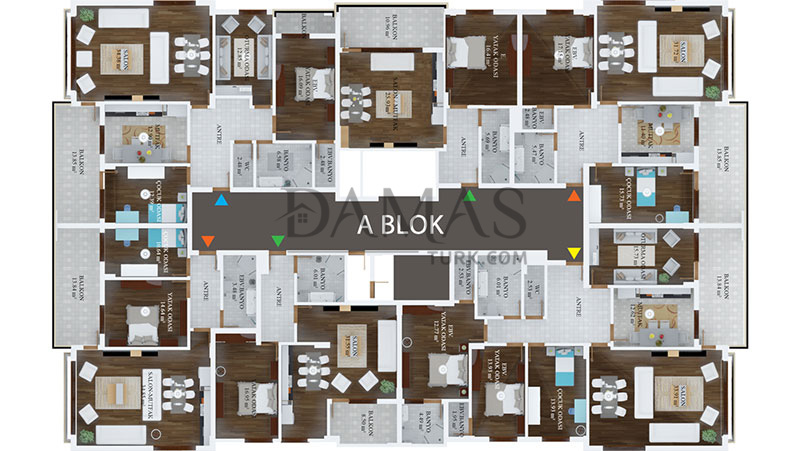 Damas 406 Project in Trabzon - Floor Plan 02