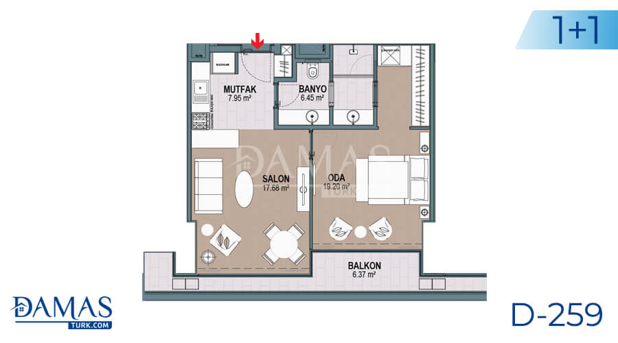 Damas Project D-259 in Istanbul - Floor plan picture 02