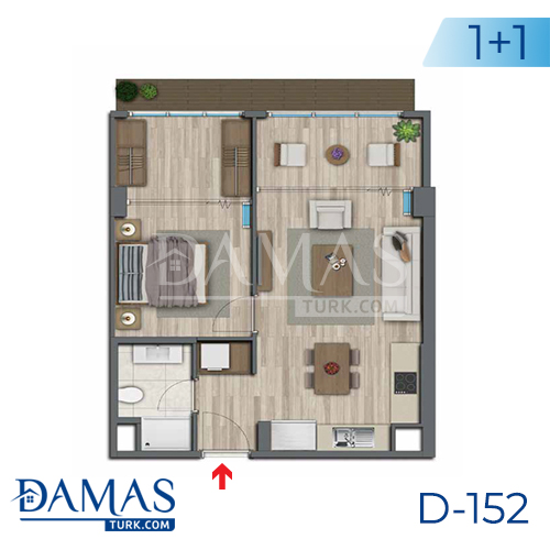 Damas Project D-152 in Istanbul - Floor plan picture 02
