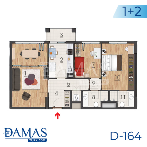 Damas Project D-164 in Istanbul - Floor plan picture 02