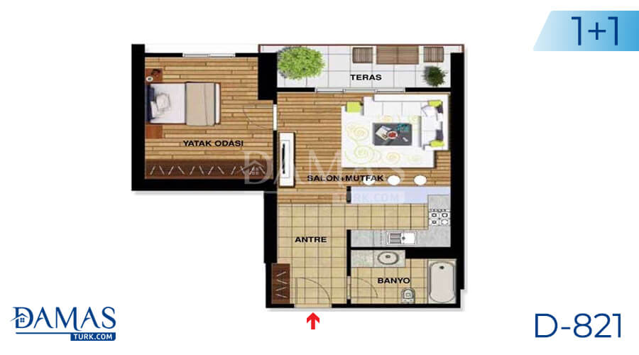 Damas Project D-821 in Istanbul - Floor plan picture 02