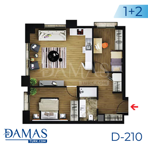 Damas Project D-219 in Istanbul - Floor plan picture  02