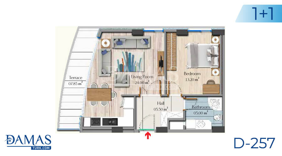 Damas Project D-257 in Istanbul - Floor plan picture 02