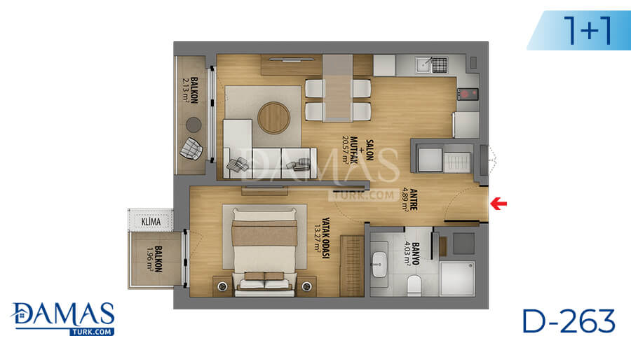 Damas Project D-263 in Istanbul - Floor plan picture 02