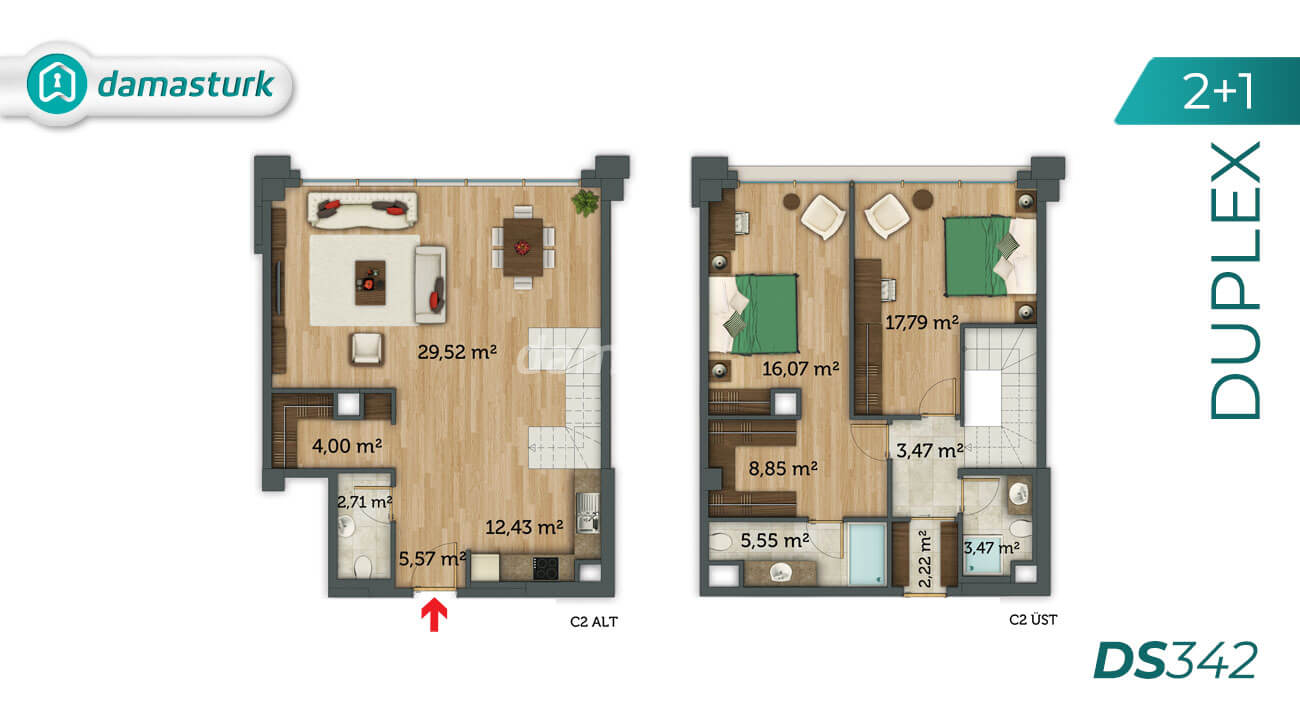 Apartments for sale in Turkey - Istanbul - the complex DS342 || damasturk Real Estate Company 04