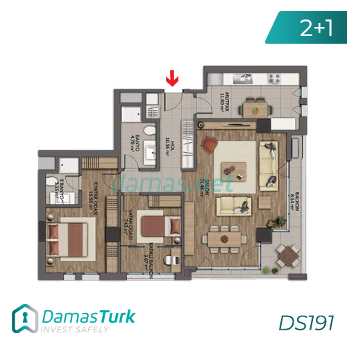 Istanbul Property - Turkey Real Estate - DS191 || damas.net 03