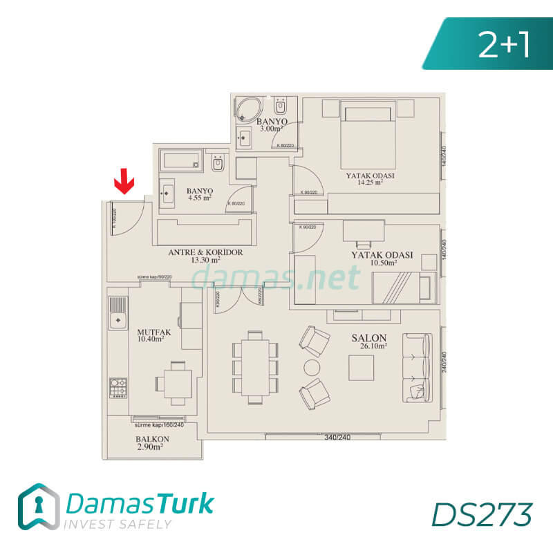 Ready to move project with sea views in istanbul , beylikduzu  district DS273 || damas.net