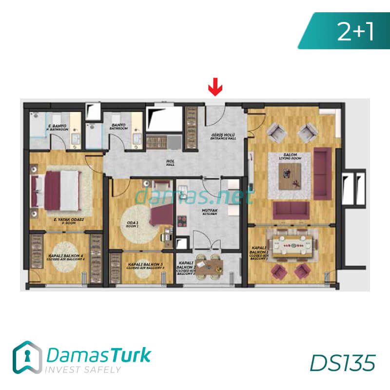 Istanbul Property - Turkey Real Estate - DS135 || damas.net 02