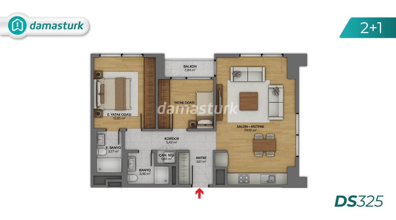 Apartments for sale in Turkey - the complex DS325 || damasturk Real Estate Company 02