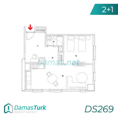 Damas Project DS269 in Istanbul - Floor Plan picture  02