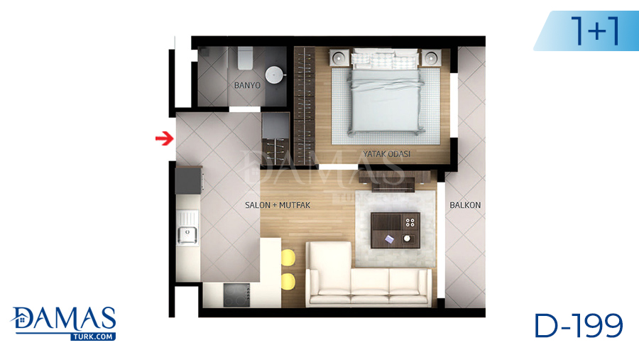 Damas Project D-199 in Istanbul - Floor plan picture  02