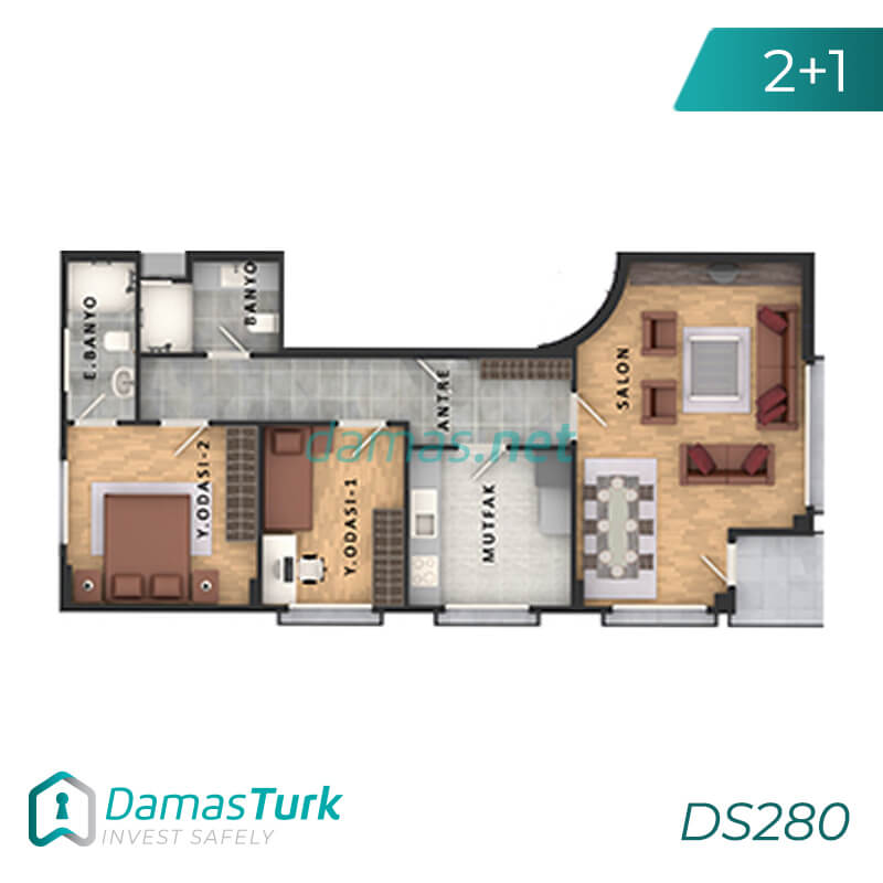 Apartments complex investment is ready to live freely with views of Istanbul European büyükçekmece area DS280    damas.net 01