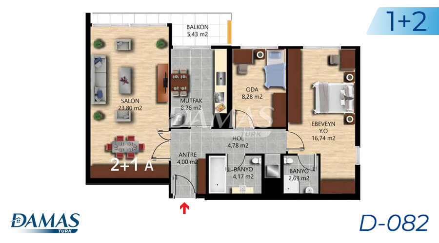Damas Project D-082 in Istanbul - Floor Plan picture 01