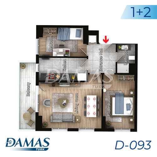 Damas Project D-093 in Istanbul - Floor Plan picture 03