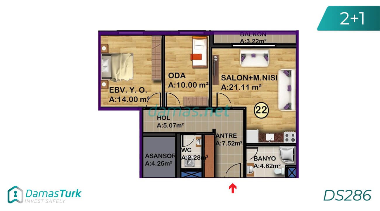 Ready to move apartment complex with sea view, comfortable installment in Istanbul European, Beylikdüzü area DS286 || damas.net 01