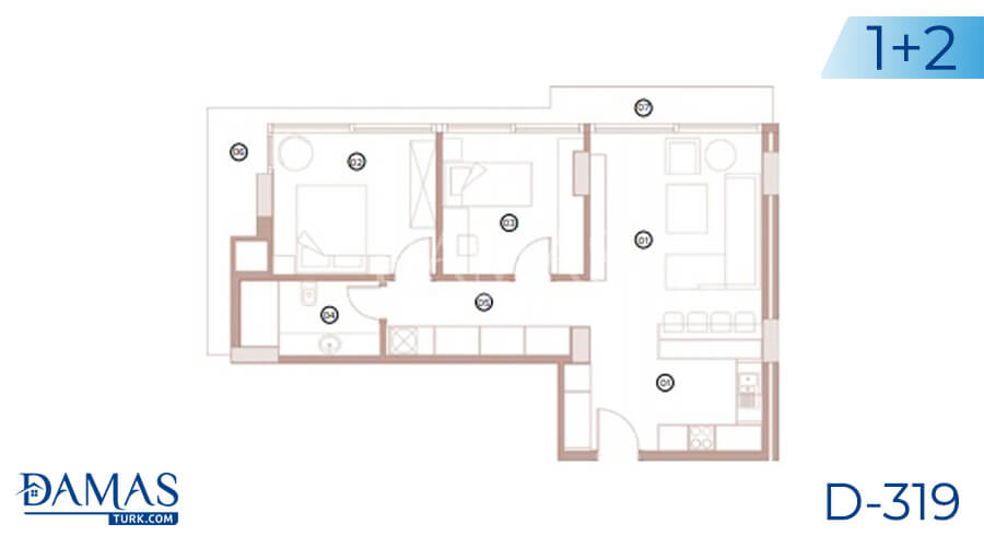 Damas Project D-318 in Bursa - Floor plan picture 02
