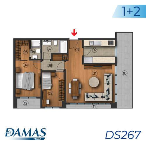 Damas Project DS267 in Istanbul - Floor Plan picture 01
