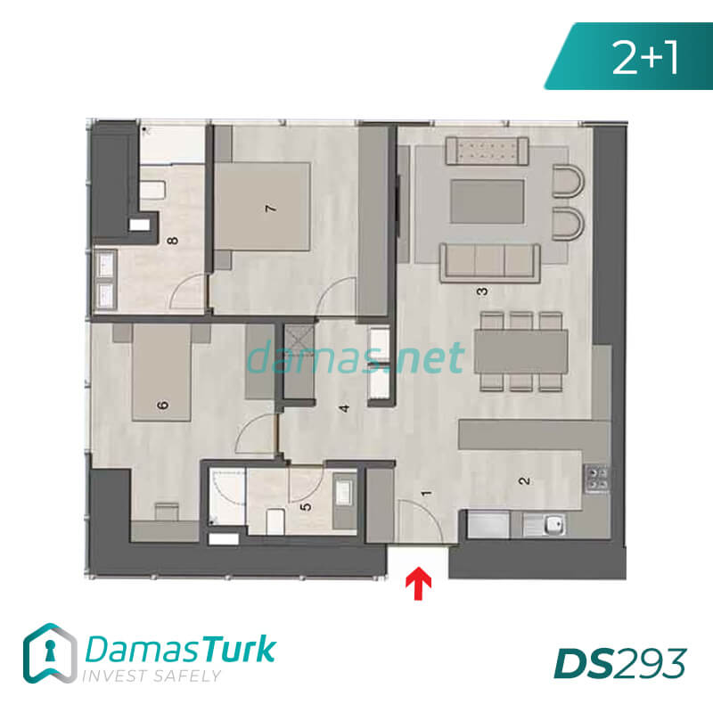 Ready investment apartments complex with a beautiful sea views in istanbul - sisli DS293 || damas.net 02