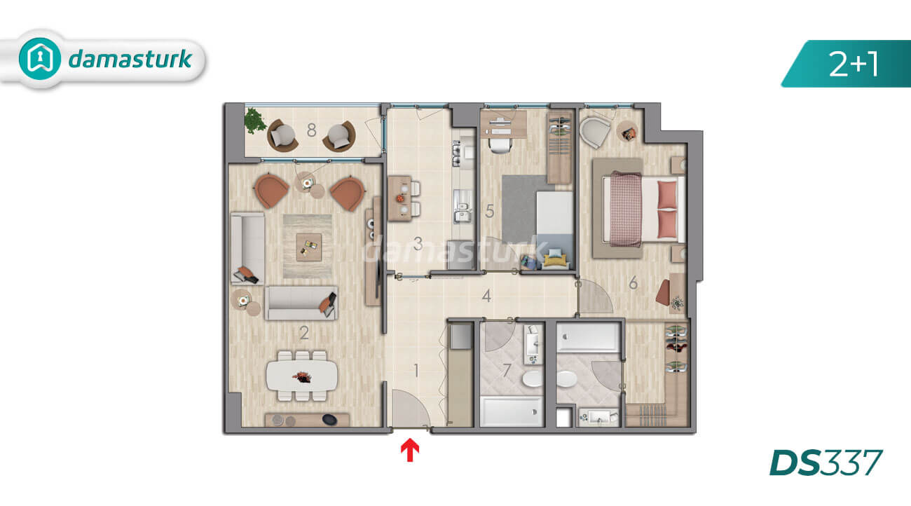 Apartments for sale in Turkey - Istanbul - the complex DS337 || damasturk Real Estate Company 02