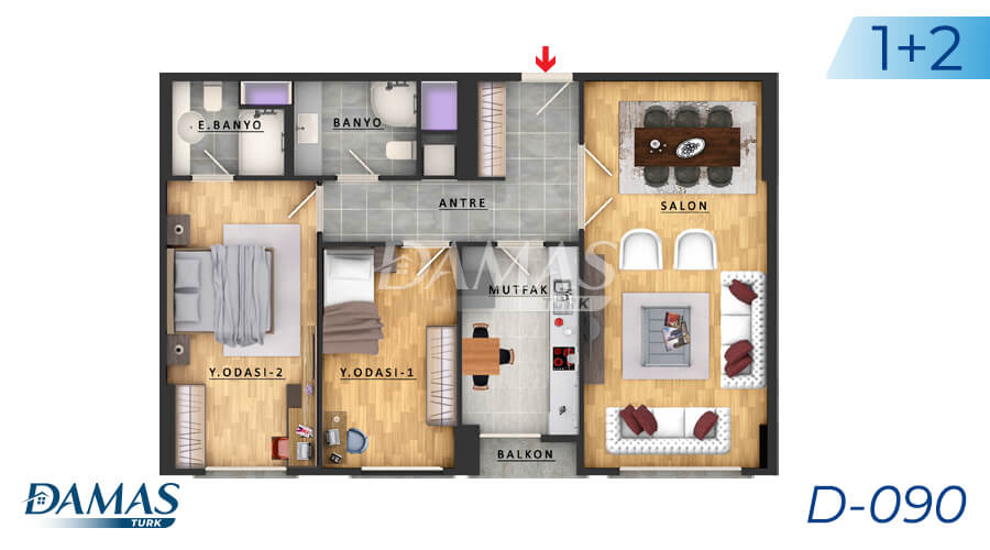 Damas Project D-090 in Istanbul - Floor Plan picture 01