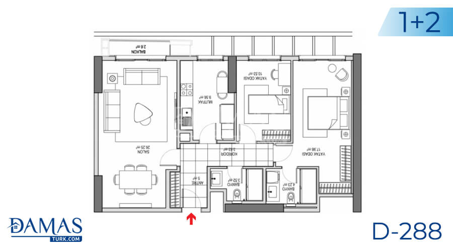 Damas Project D-288 in Istanbul - Floor plan picture 02