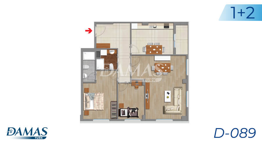 Damas Project D-089 in Istanbul - Floor Plan picture 01
