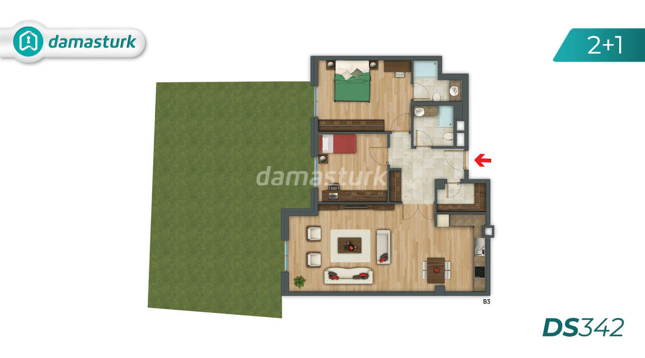 Apartments for sale in Turkey - Istanbul - the complex DS342 || damasturk Real Estate Company 03