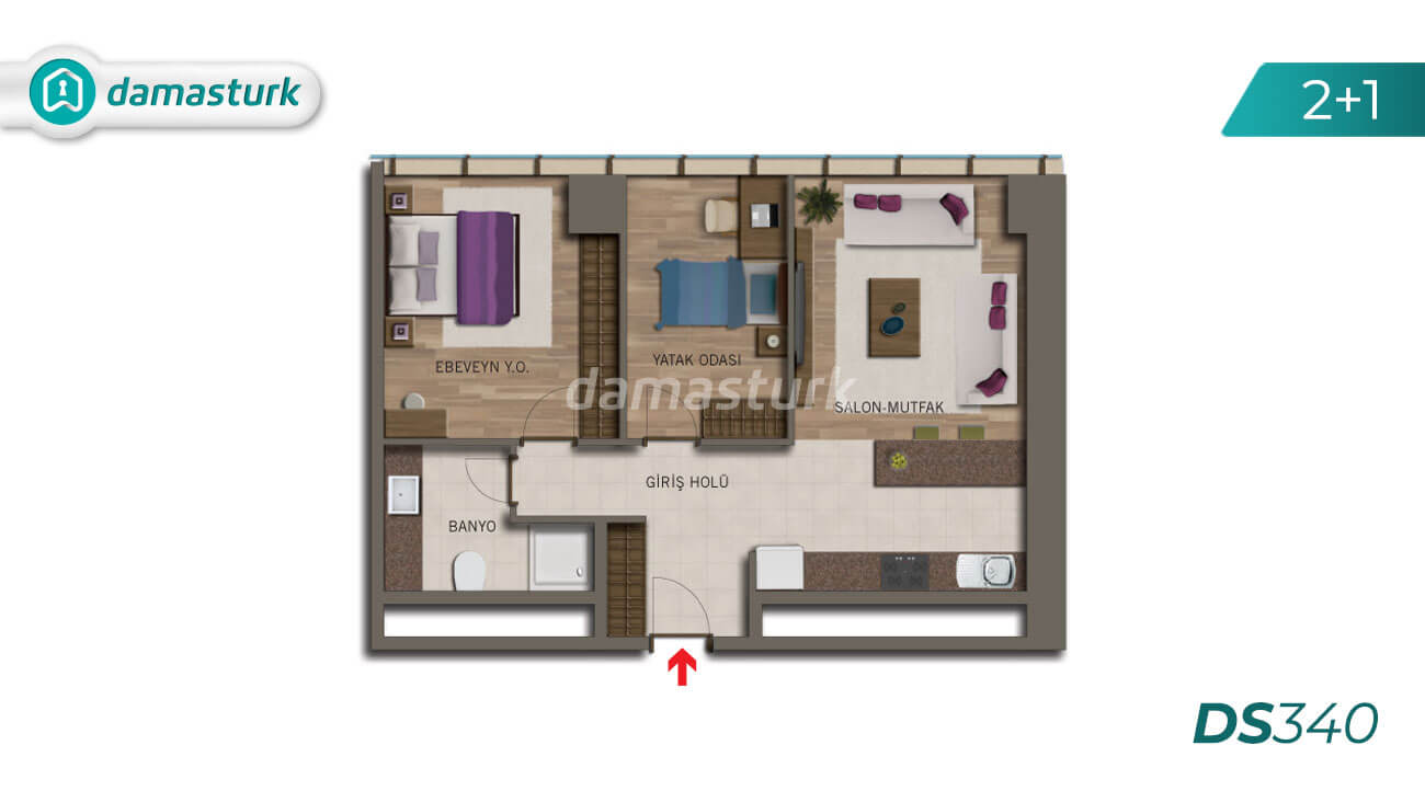 Apartments for sale in Turkey - Istanbul - the complex DS340 || damasturk Real Estate Company 03