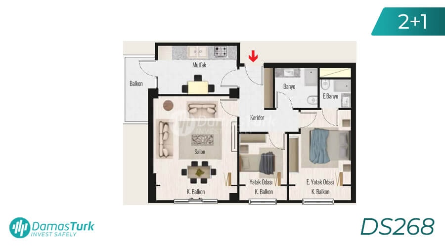 Damas Project DS268 in Istanbul - Floor Plan picture 02