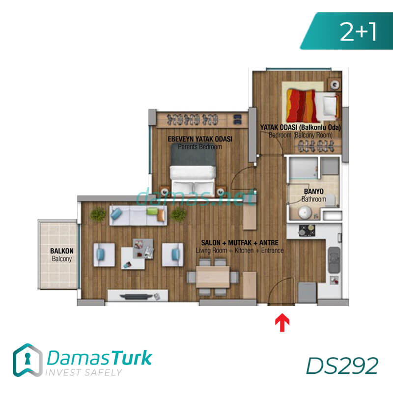 Ready investment apartment complex housing in Istanbul, the European Beylikdüzü area DS292 || damas.net 02