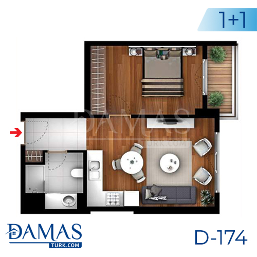 Damas Project D-174 in Istanbul -Floor plan picture  02