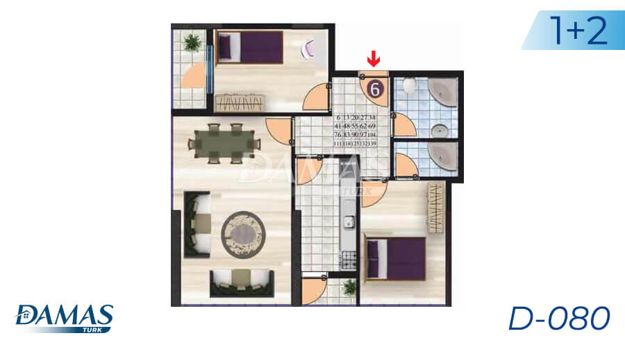 Damas Project D-080 in Istanbul - Floor Plan picture 02