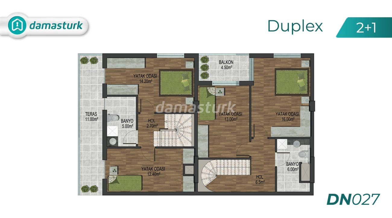Apartments for sale in Antalya Turkey - complex DN027 || damasturk Real Estate Company 02