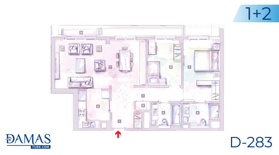 Damas Project D-283 in Istanbul - Floor plan picture 02