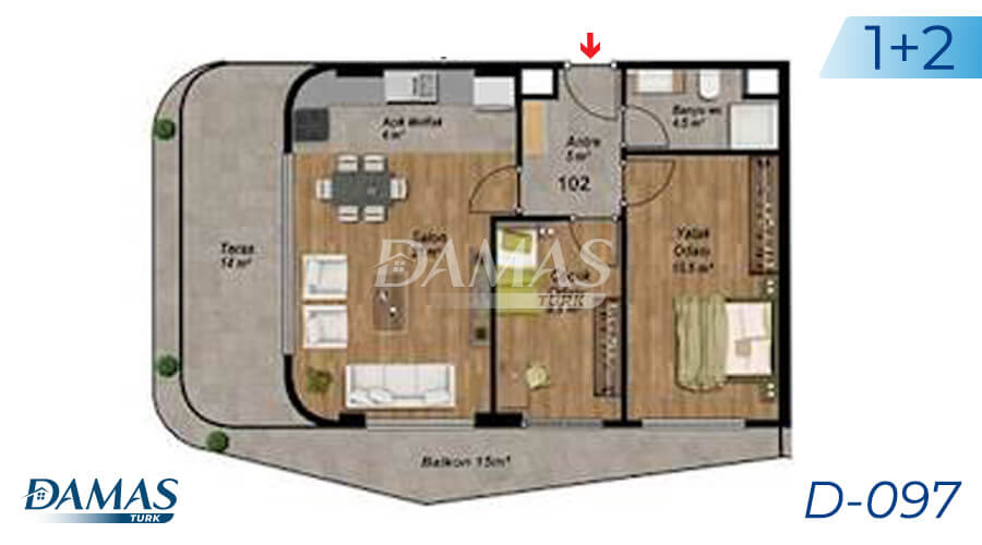 Damas Project D-097 in Istanbul - Floor Plan picture  02
