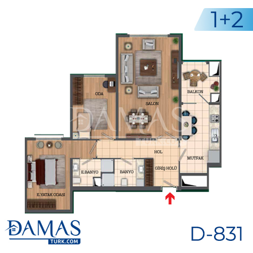 Damas Project D-831 in Istanbul - Floor Plan picture 02