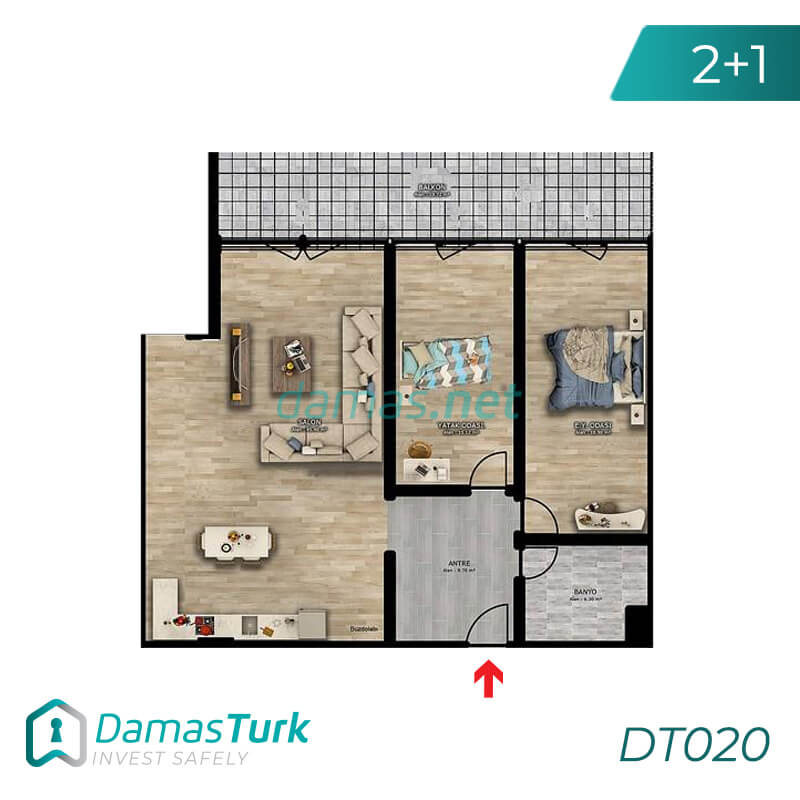 Investment complex with magnificent sea views and comfortable installments in Trabzon, Ortahstar area - DT020 || damas.net 01