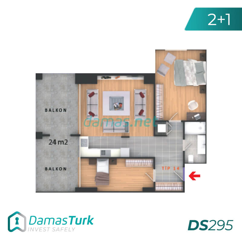Complex apartments and offices of an investment wonderful sea views of the Sea of Marmara in Istanbul, the European Beylikdüzü area DS295 || damas.net 03