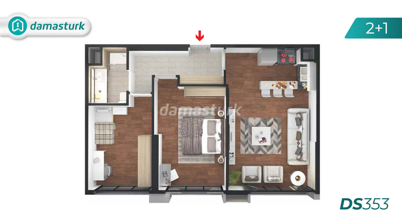 Apartments for sale in Turkey - Istanbul - the complex DS353 || damasturk Real Estate Company 02