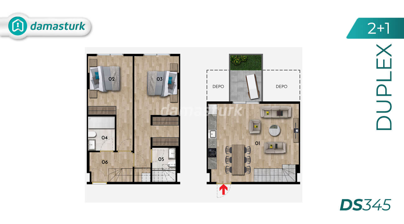 Apartments for sale in Turkey - Istanbul - the complex DS345 || damasturk Real Estate Company 02