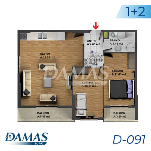 Damas Project D-091 in Istanbul - Floor Plan picture 02