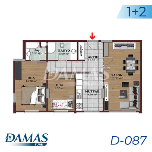 Damas Project D-087 in Istanbul - Floor Plan picture 01